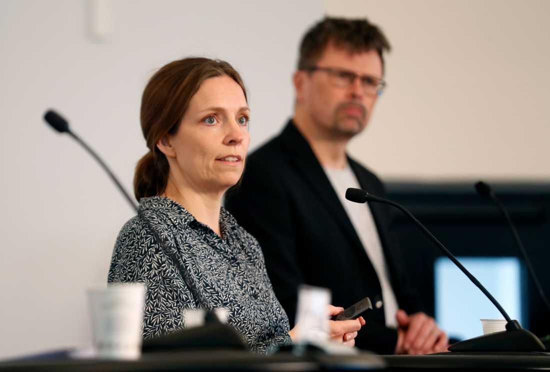 Sara Byfors på Folkhälsomyndigheten.
