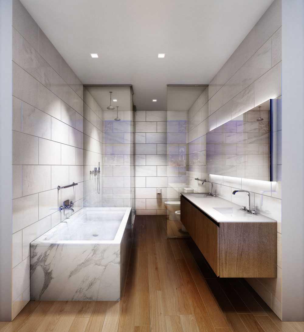 Ett av tre badrum.