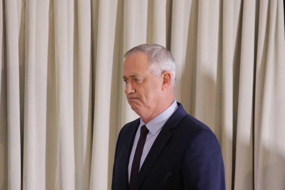 Den israeliske oppositionsledaren Benny Gantz. Arkivbild.