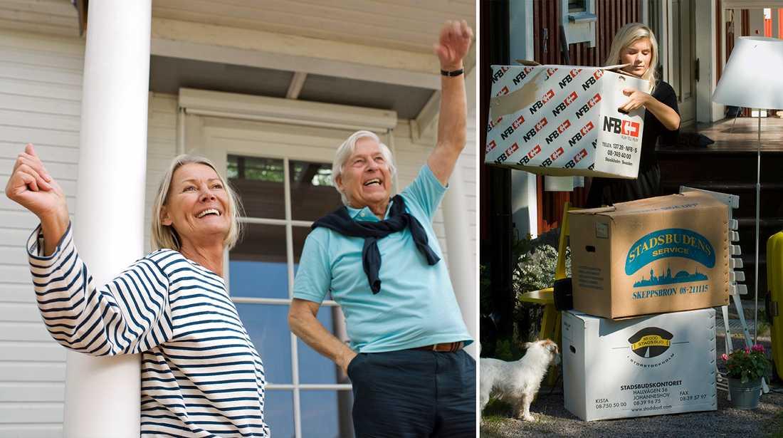 Barn som flyttar hemifrån ger lyckliga föräldrar.