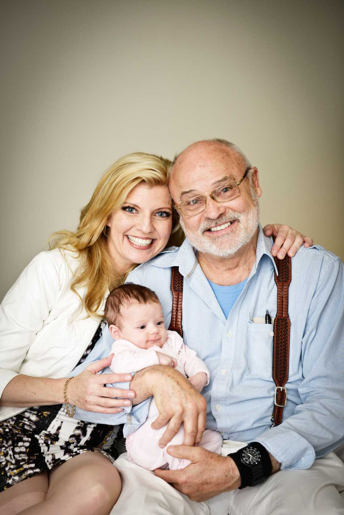Margareta och Seth med dottern Samantha.