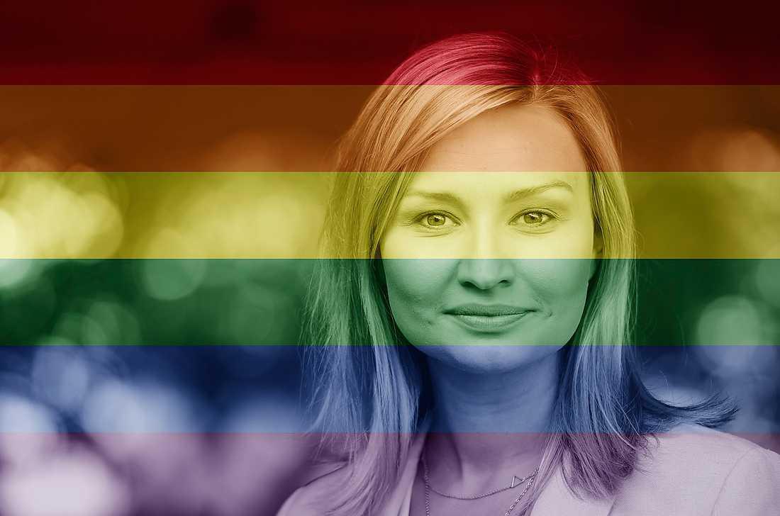 Ebba Busch Thor ska som första KD-ledare någonsin gå i årets Prideparad, nu på lördag. Foto: Colourbox/TT