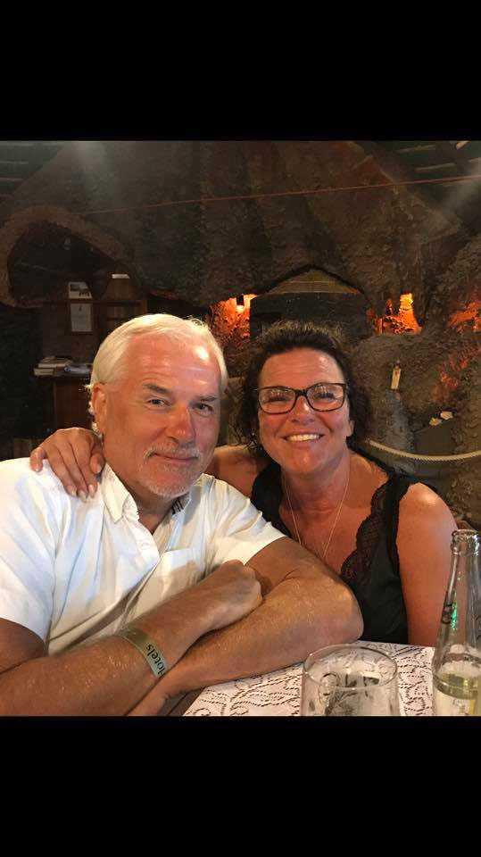 Glenn Hysén och  Camilla Lendott på Kap Verde.