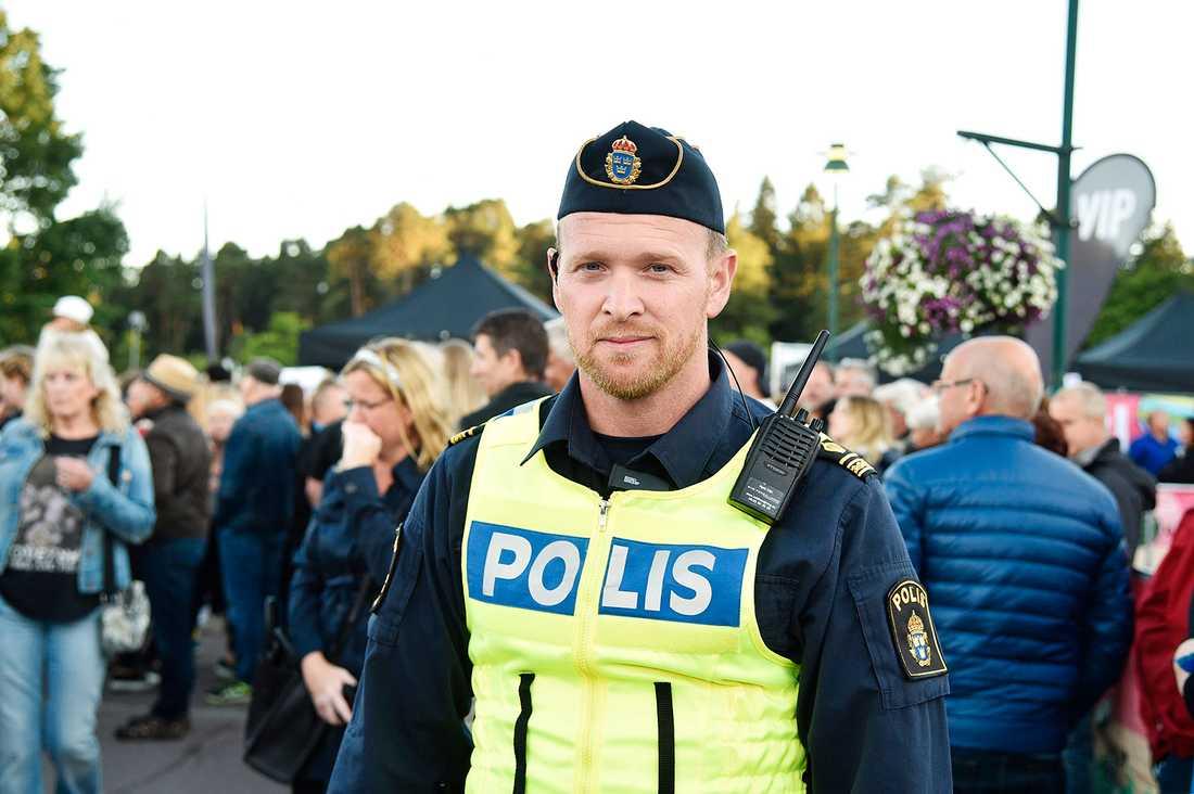 Daniel Fernström är polisens insatsledare under festivalen Putte i Parken.