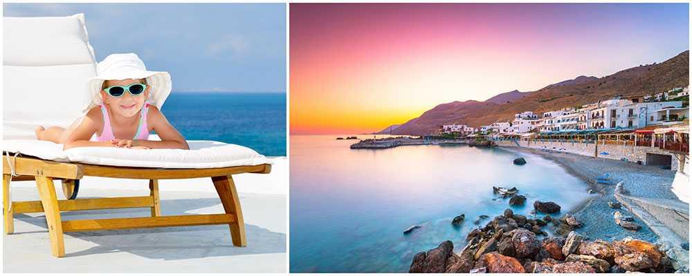 Kreta är ett idealiskt resmål för barnfamiljer.
