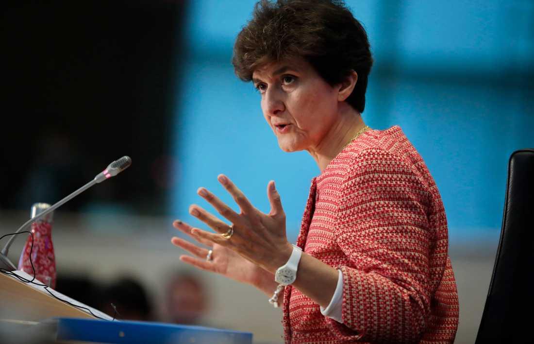 Franska Sylvie Goulard kritiseras i EU-parlamentets utskottsförhör för att ha använt EU-medel på fel sätt.