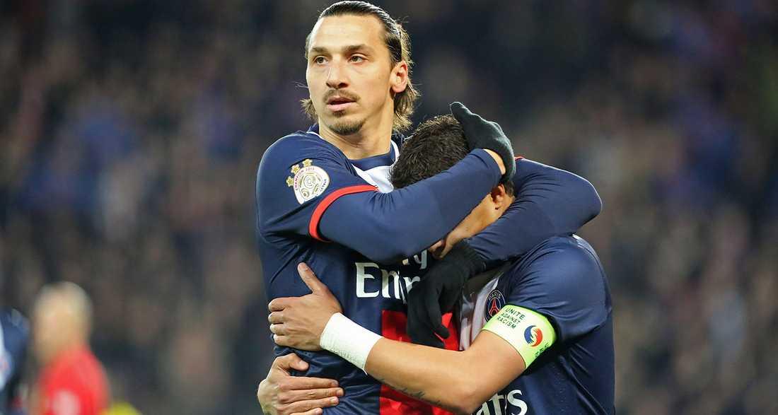 Zlatan kramar om Thiago Silva.