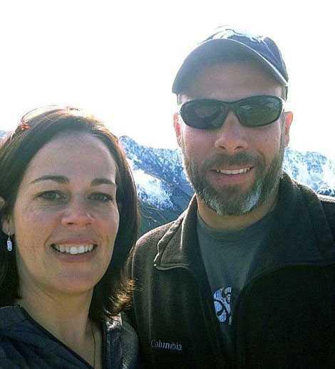 Brandmannen Dave Ruhl, här på bild med sin fru Erin, dog i kampen mot lågorna i Kalifornien.