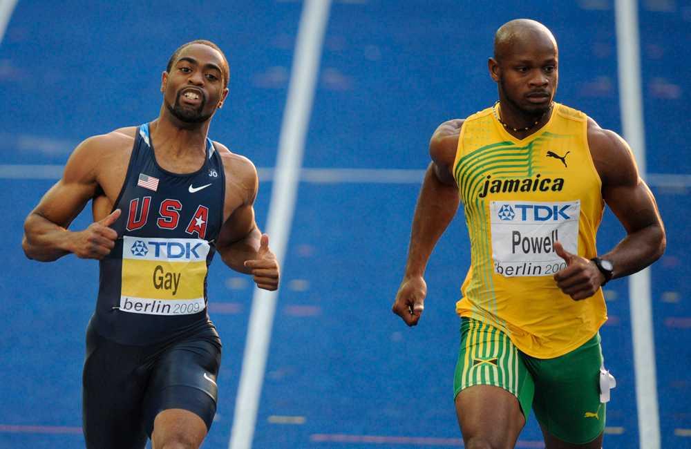 Tyson Gay och Asafa Powell.