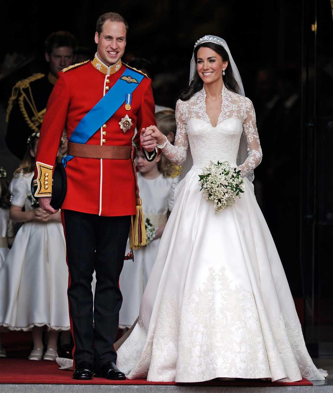 Inspirationsbild Kate Middletons brudklänning designad av Sarah Burton. Foto: AP