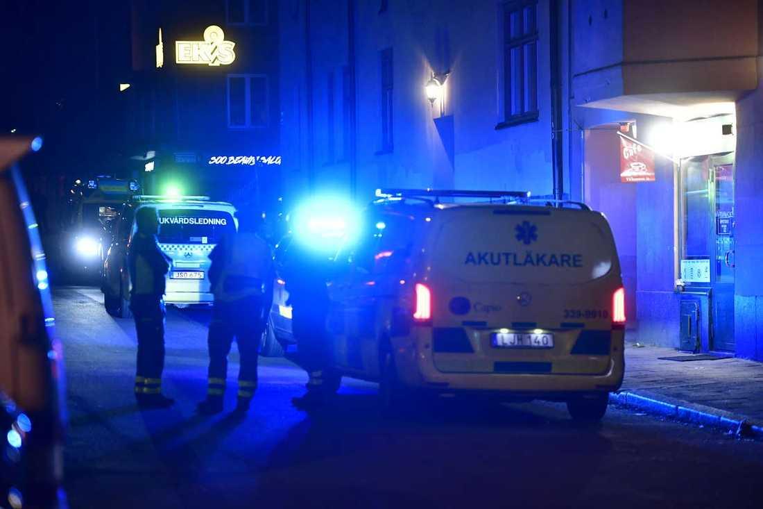 Under kvällen blossade en rad bråk upp i Solna.