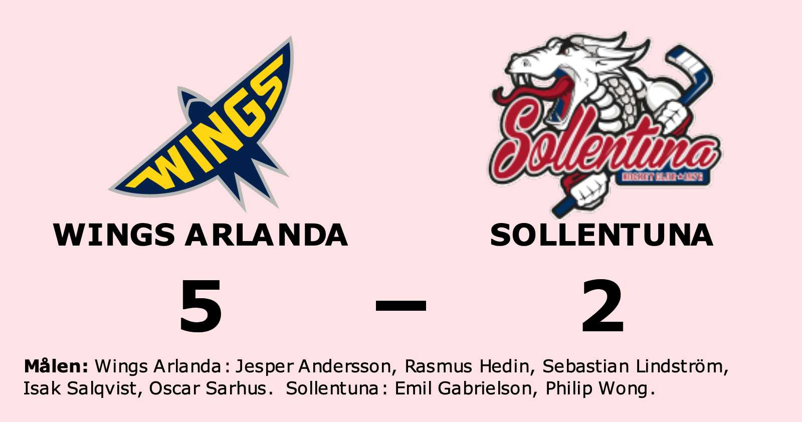 Wings Arlanda vann hemma mot Sollentuna