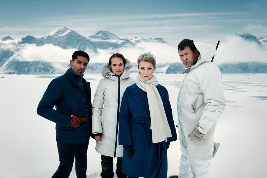 Alexander Karim, Bianca Kronlöf, Lena Endre och Angunnguaq Larsen.
