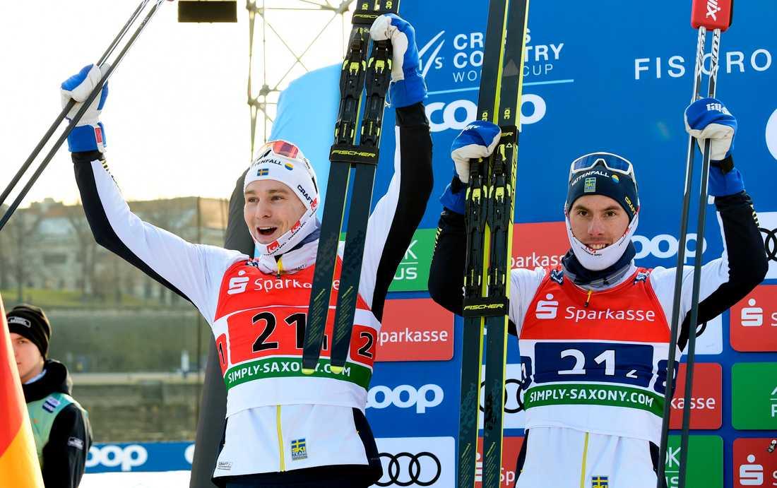 Grate till vänster, Häggström till höger.