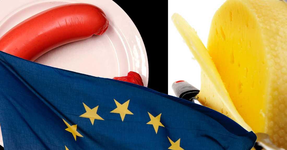 Falukorvens och hushållsostens speciella namnskydd hotas när EU vill ta bort den speciella märkningen för Garanterad traditionell specialitet.