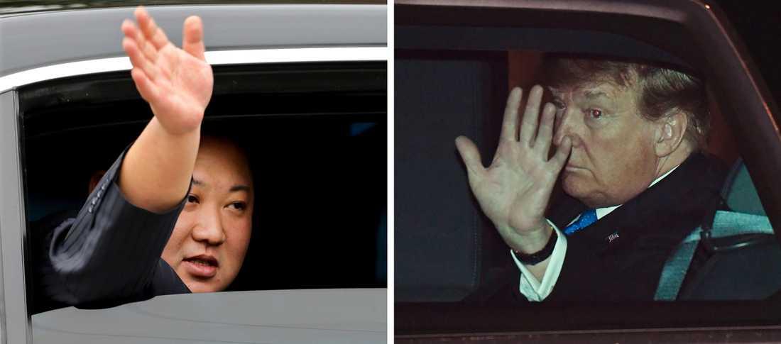 Kim Jong-Un och Donald Trump har båda anlänt till Vietnams huvudstad för att inleda samtal under onsdagskvällen lokal tid.