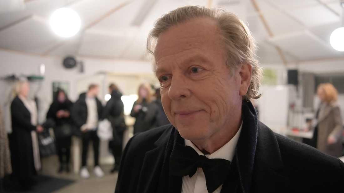 """Krister Henriksson efter att ha läst den klassiska dikten """"Nyårsklockan"""" på Skansen."""