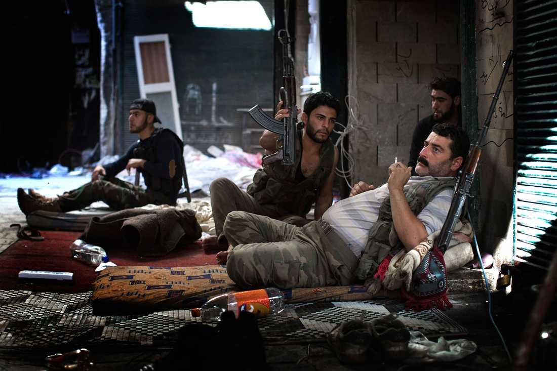 Soldater i Fria syriska armén.