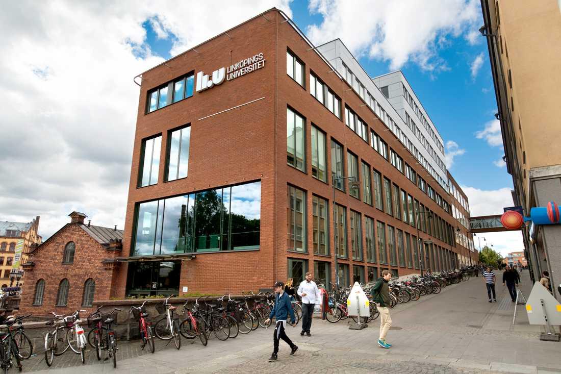 Linköpings universitet utrymde i fredags samtliga campus efter hot. På bilden campus Norrköping. Arkivbild.