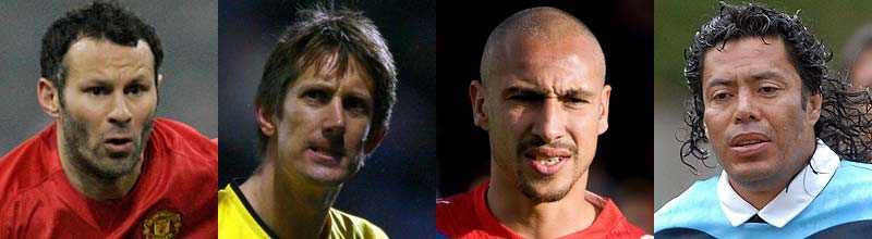 Ryan Giggs, Edwin Van Der Sar, Henrik Larsson och René Higuita är alla med på Lars Nylins lista över fotbollens veteraner.