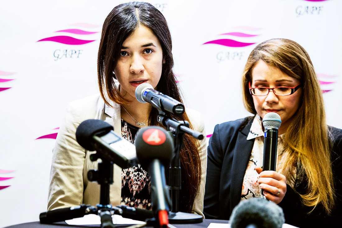 """""""Hjälp mitt folk. Frita våra flickor. Utplåna terroristerna"""", vädjar Nadia."""