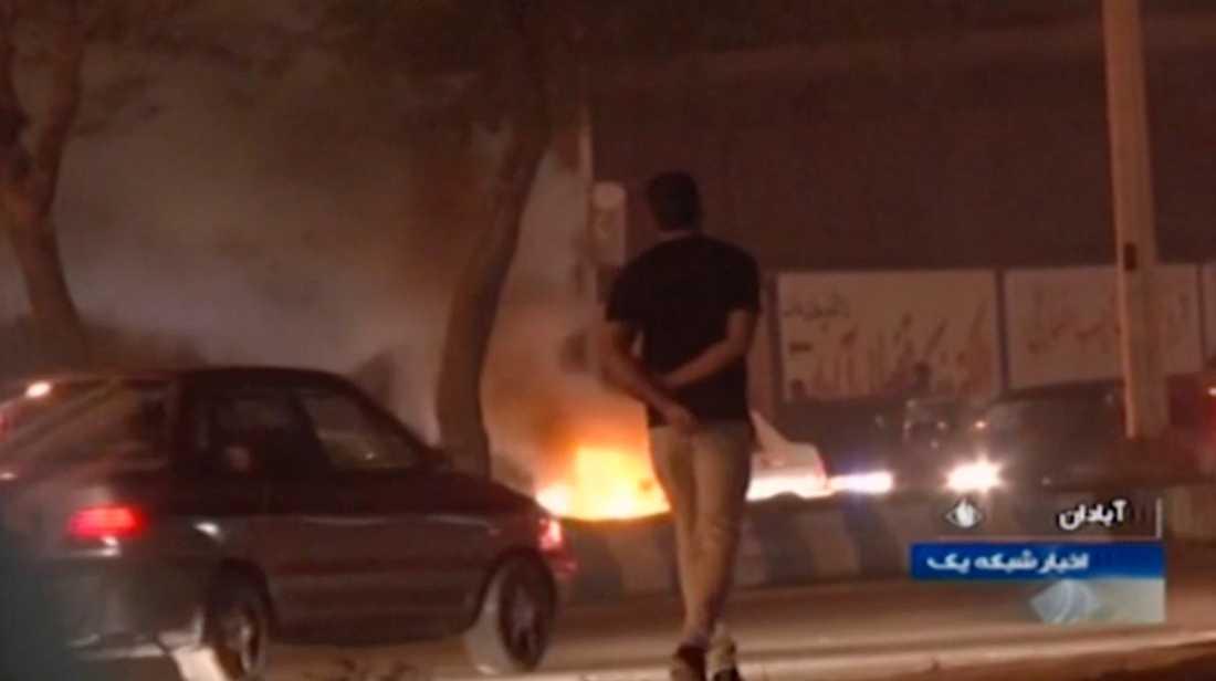 Bilder från Irans statliga tv-kanal.