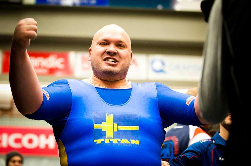 Fredrik Svensson efter rekordet.