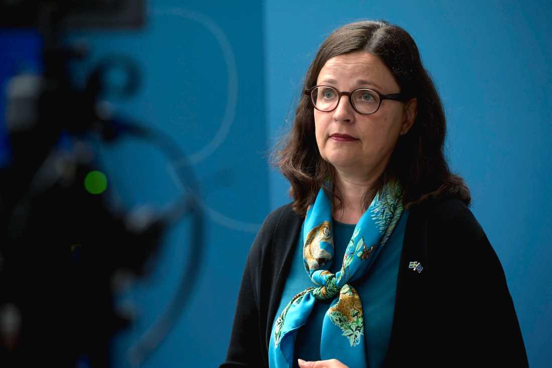 Utbildningsminister Anna Ekström (S). Arkivbild.