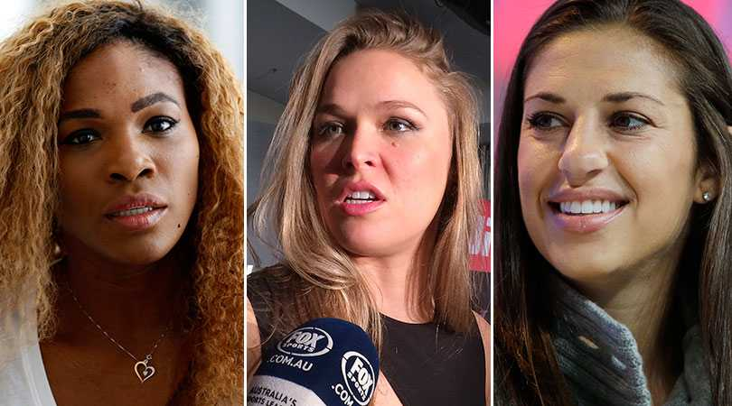 Serena Williams, Ronda Rousey och Carli Lloyd.