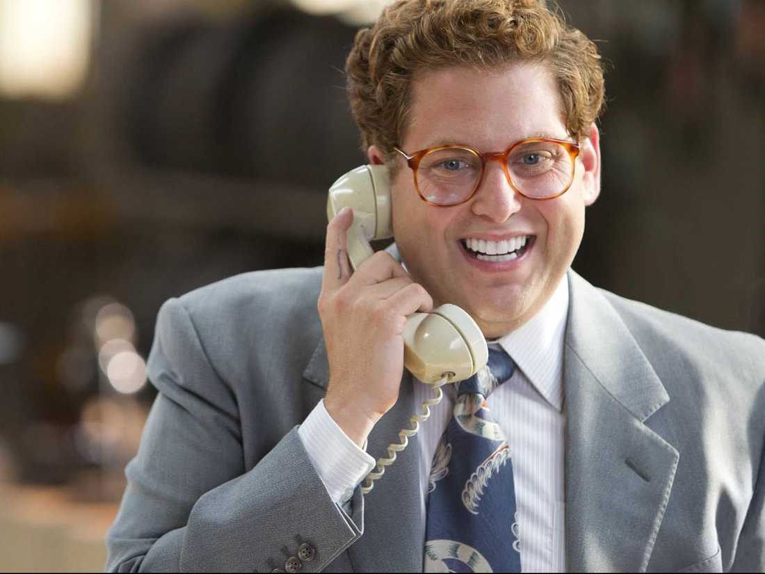 """Jonah Hill som Donnie i """"The wolf of Wall street""""."""