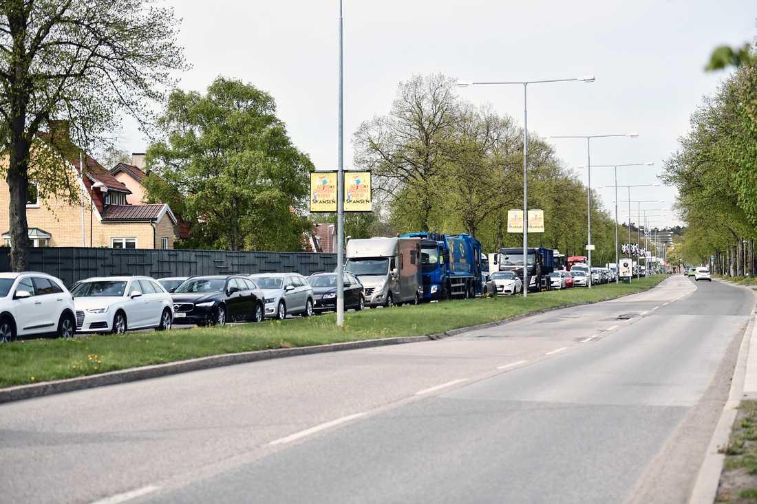 Köer i flera timmar väntas, enligt Trafikverket.