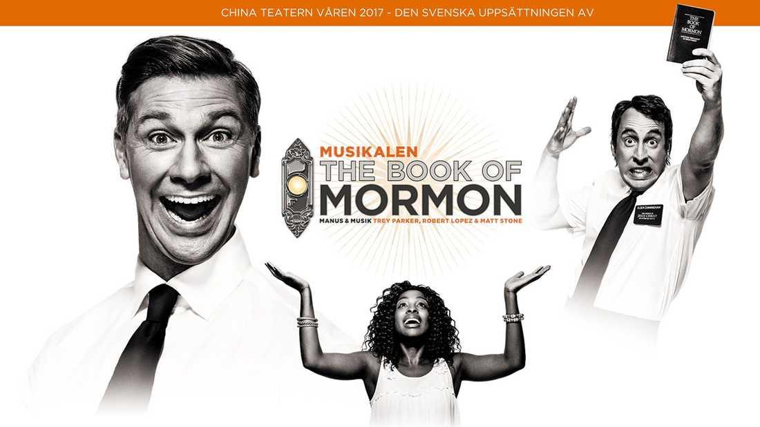 """Nu kommer den svenska uppsättningen av """"The book of mormon"""" på Chinateatern i Stockholm."""