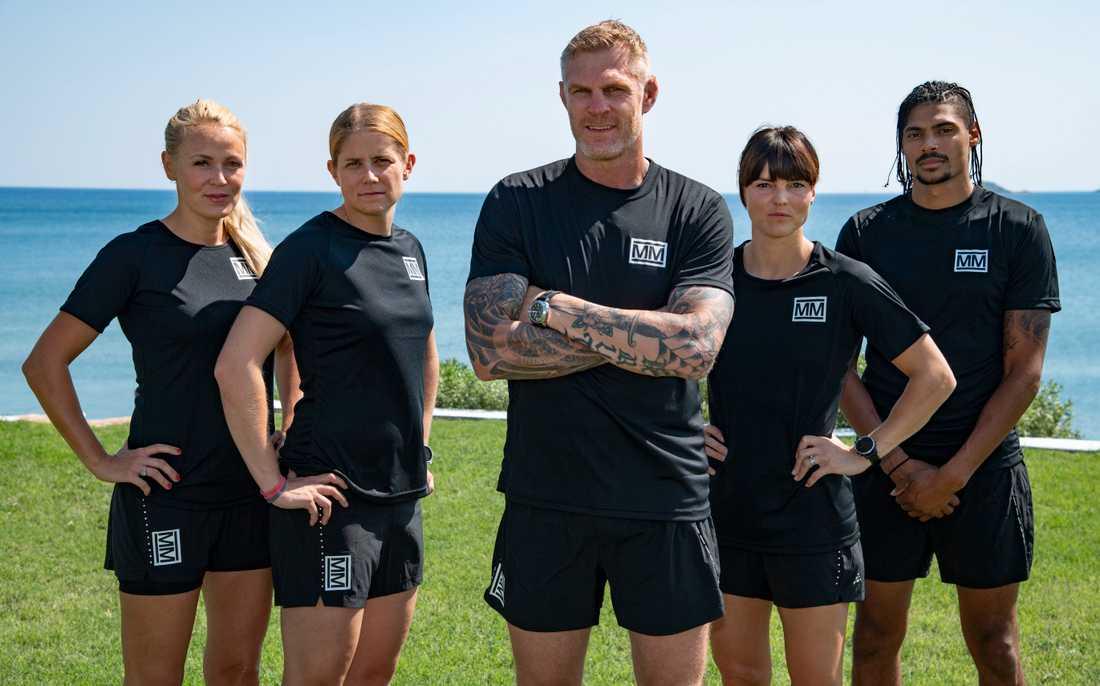 """Josefine Öqvist, 36, Ida Ingemarsdotter, 34, Jörgen Kruth, 45, Susanna Kallur, 38, och Michel Tornéus, 33, tävlar i den första gruppen i """"Mästarnas mästare"""" 2020."""