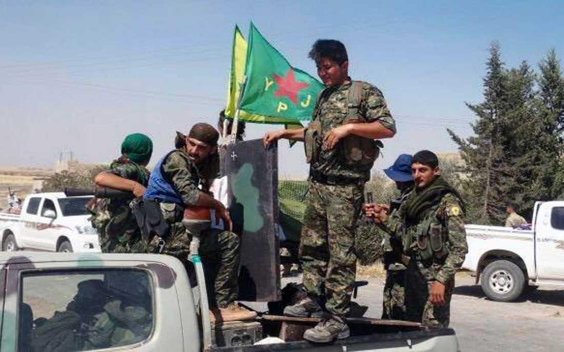 Kurder i strid i Syrien.