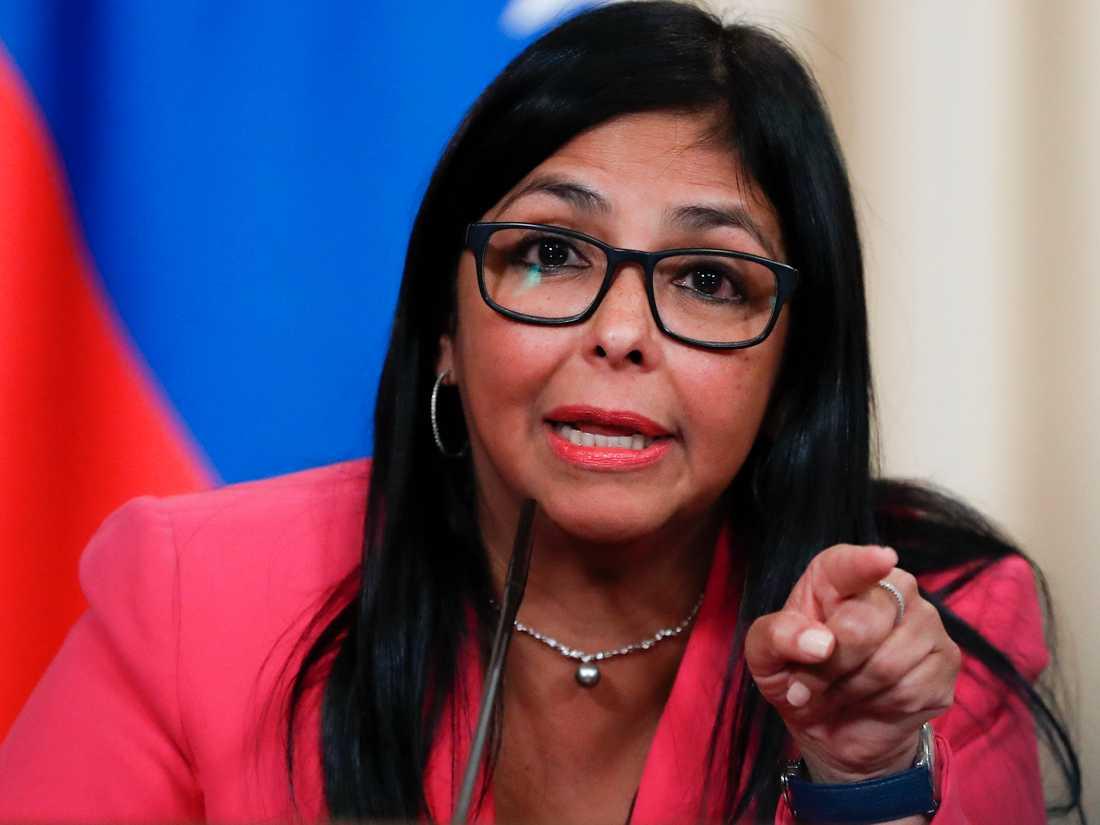 Delcy Rodríguez ska representera Venezuela vid FN:s generalförsamling senare i september. Arkivbild.