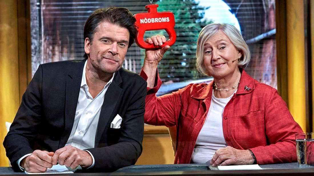 Inga-Britt Ahlenius och Peter Magnusson.
