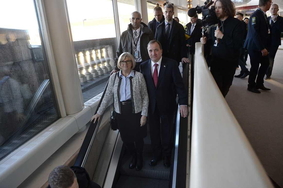 Statsminister Stefan Löfven (s) tillsammans med sin fru Ulla.
