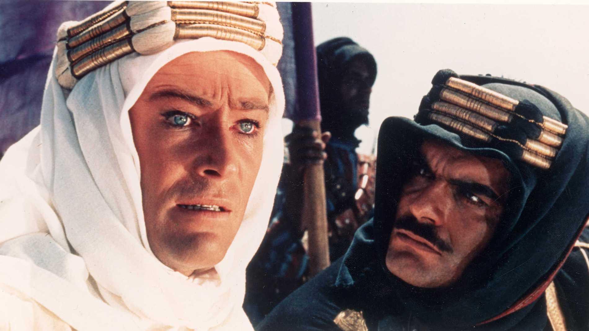 """Peter O'Toole och Omar Sharif i """"Lawrence av Arabien"""" (1962)."""
