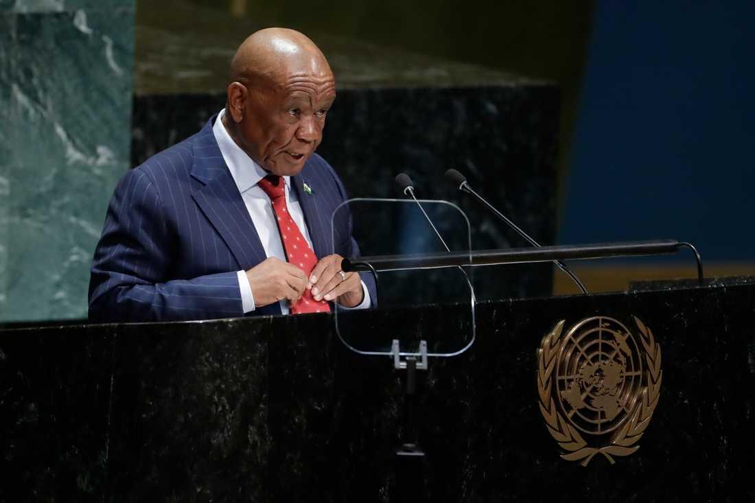 Lesothos premiärminister Thomas Thabane anklagas för inblandning i mordet på hans fru och frun han gifte om sig med anklagas för att ha beställt mordet. Arkivbild.