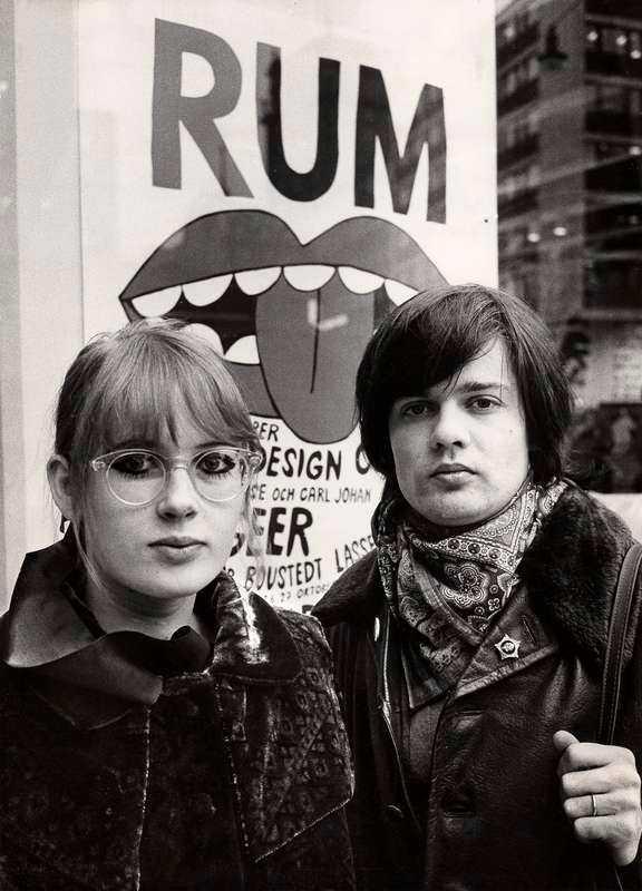 Marie-Louise Ekman med dåvarande maken Carl Johan De Geer 1968.