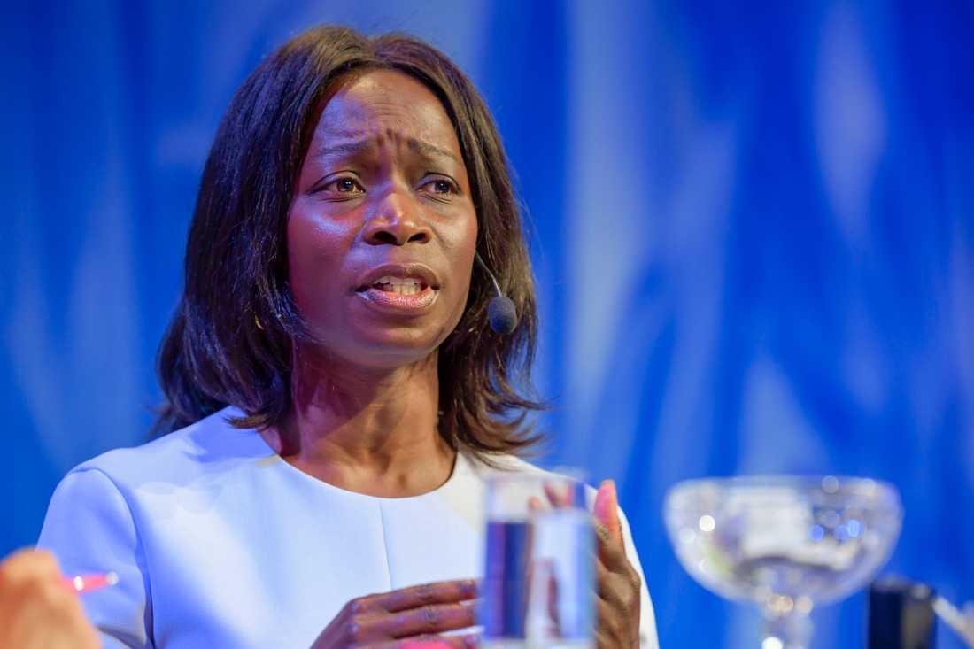 Nyamko Sabuni under Liberalernas turné