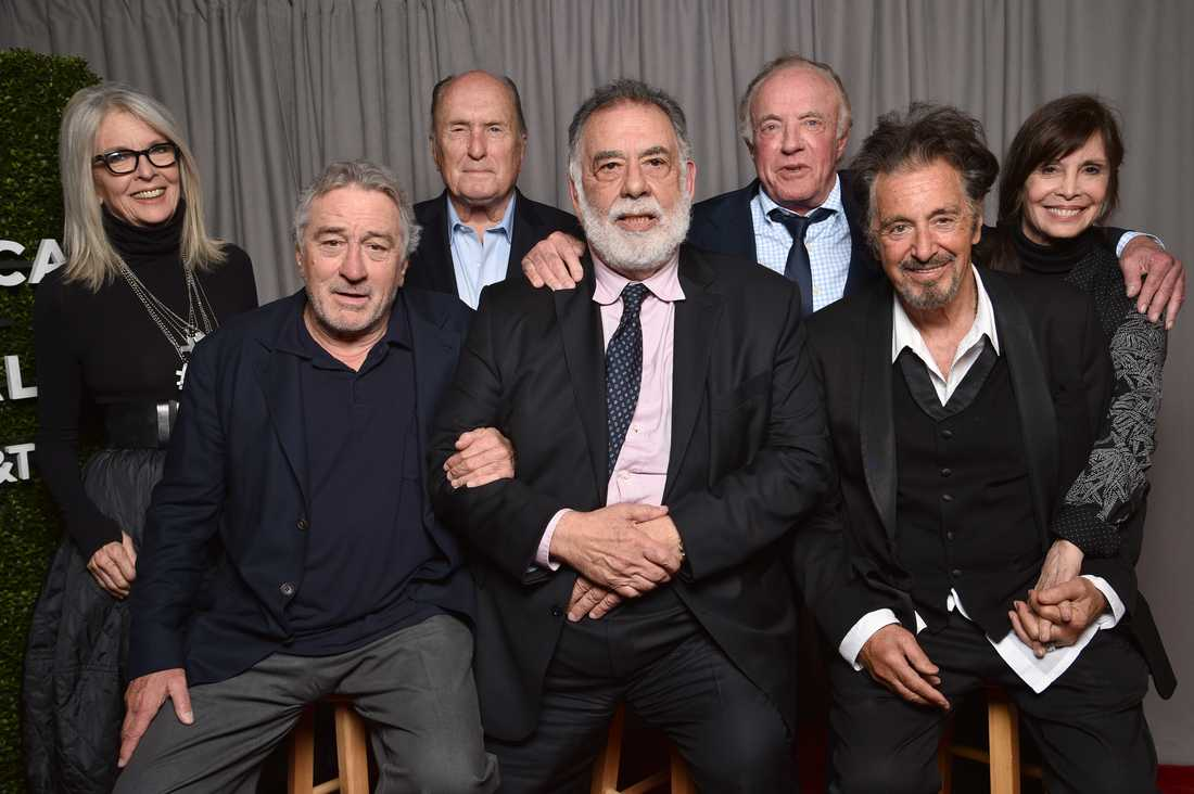 Diane Keaton, Robert DeNiro, Robert Duvall. Francis Ford Coppola, James Caan, Al Pachino och Talia Shire.