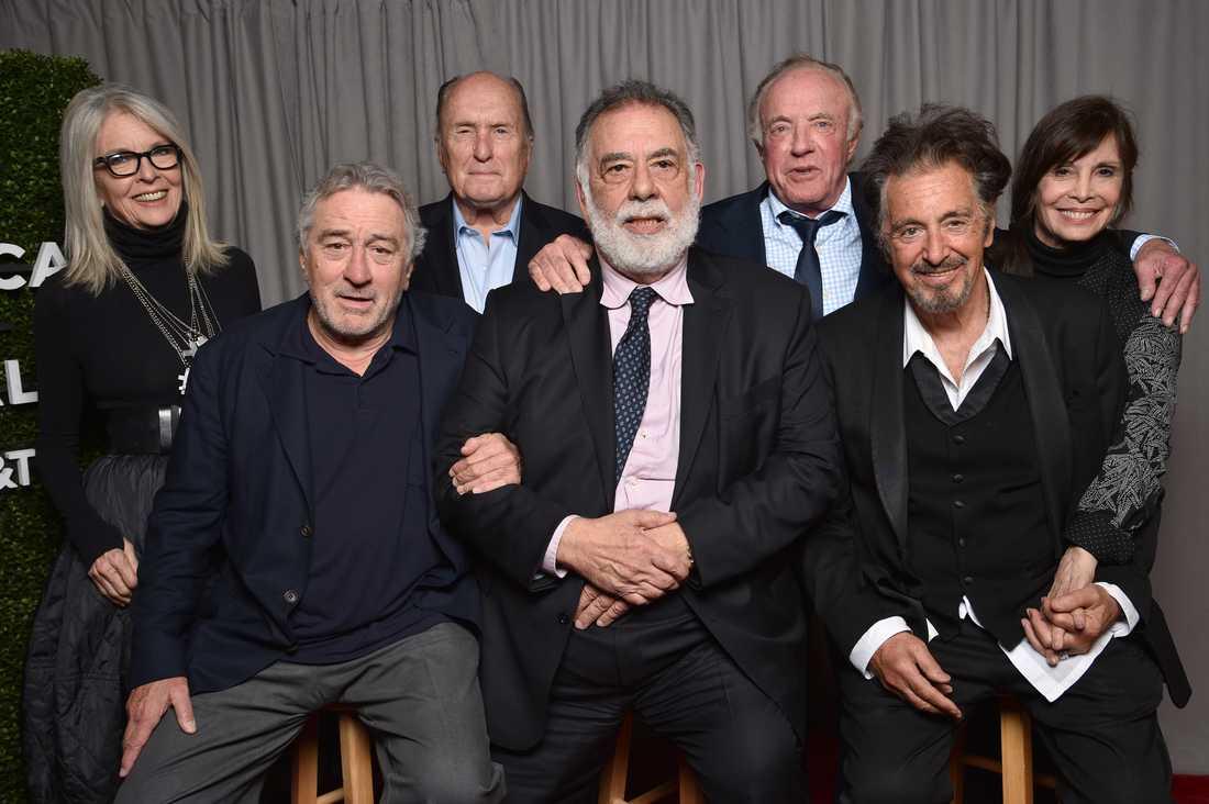 Diane Keaton, Robert DeNiro, Robert Duvall. Francis Ford Coppola, James Caan, Al Pachino och Talia Shire.
