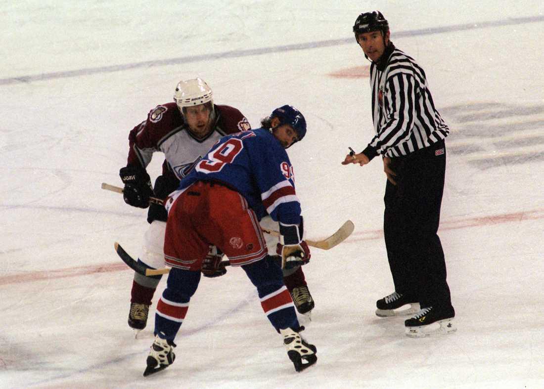 Peter Forsberg och Wayne Gretzky 1997.