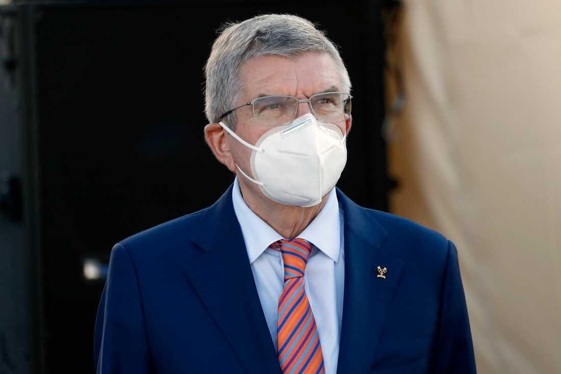 IOK-basen Thomas Bach försvarar beslutet att inte tillåta protester under OS. Arkivbild.