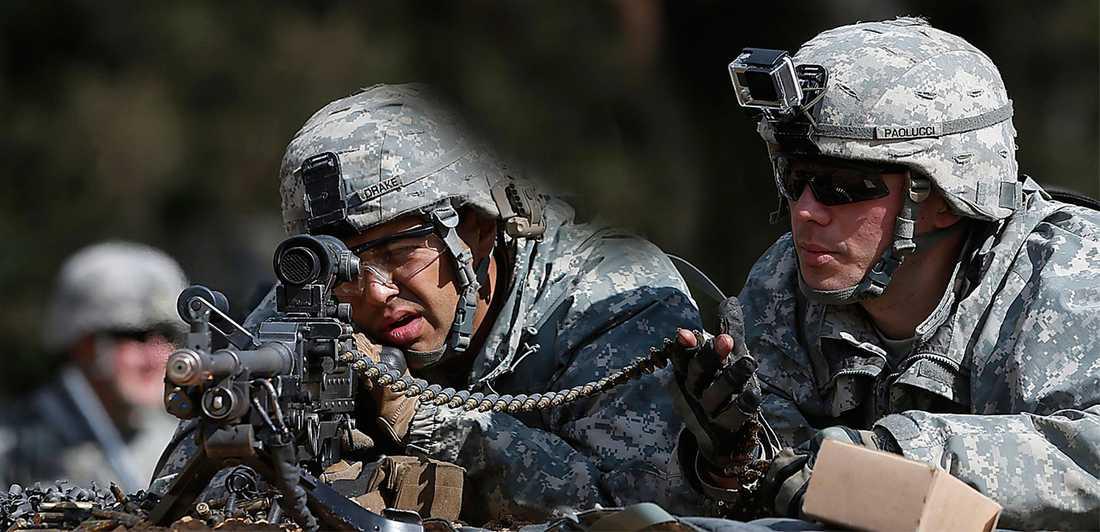 Amerikanska Nato-soldater övar i Litauen våren 2014. Foto: AP