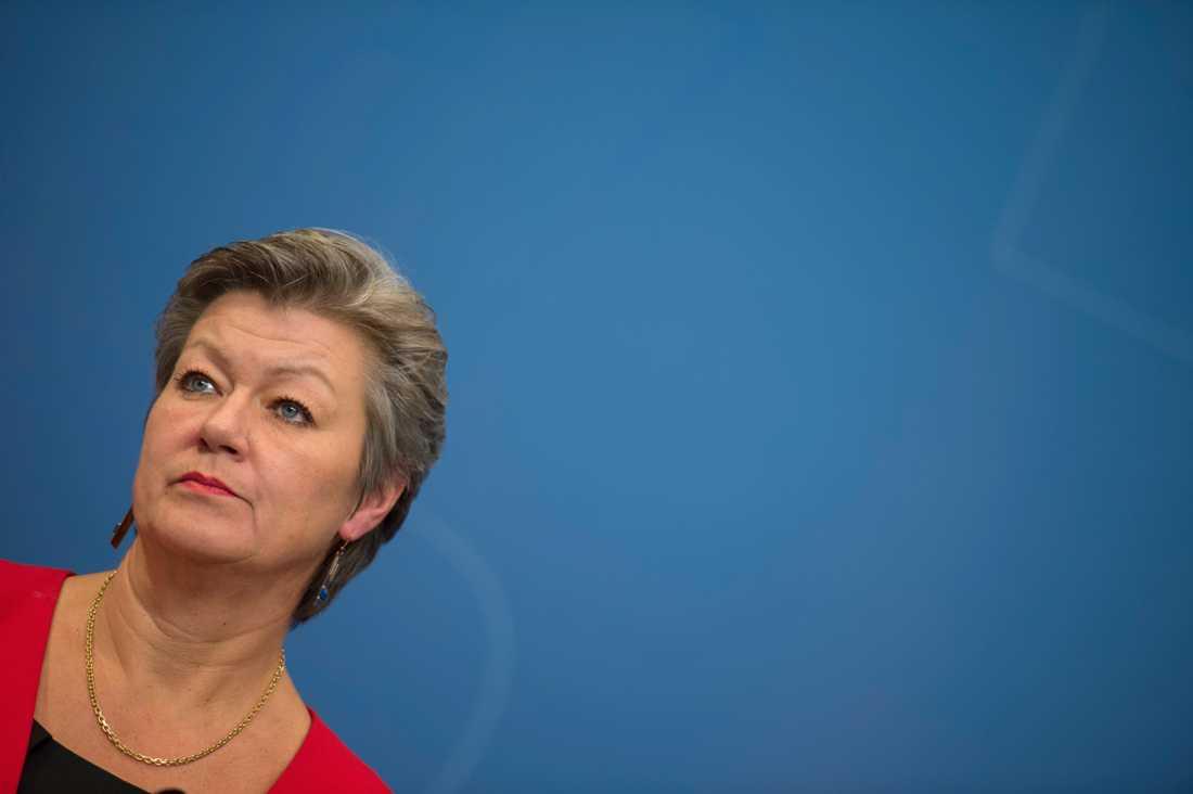 Arbetsmarknadsminister Ylva Johansson (S) presenterade uppgörelsen om etableringsjobb. Arkivbild.