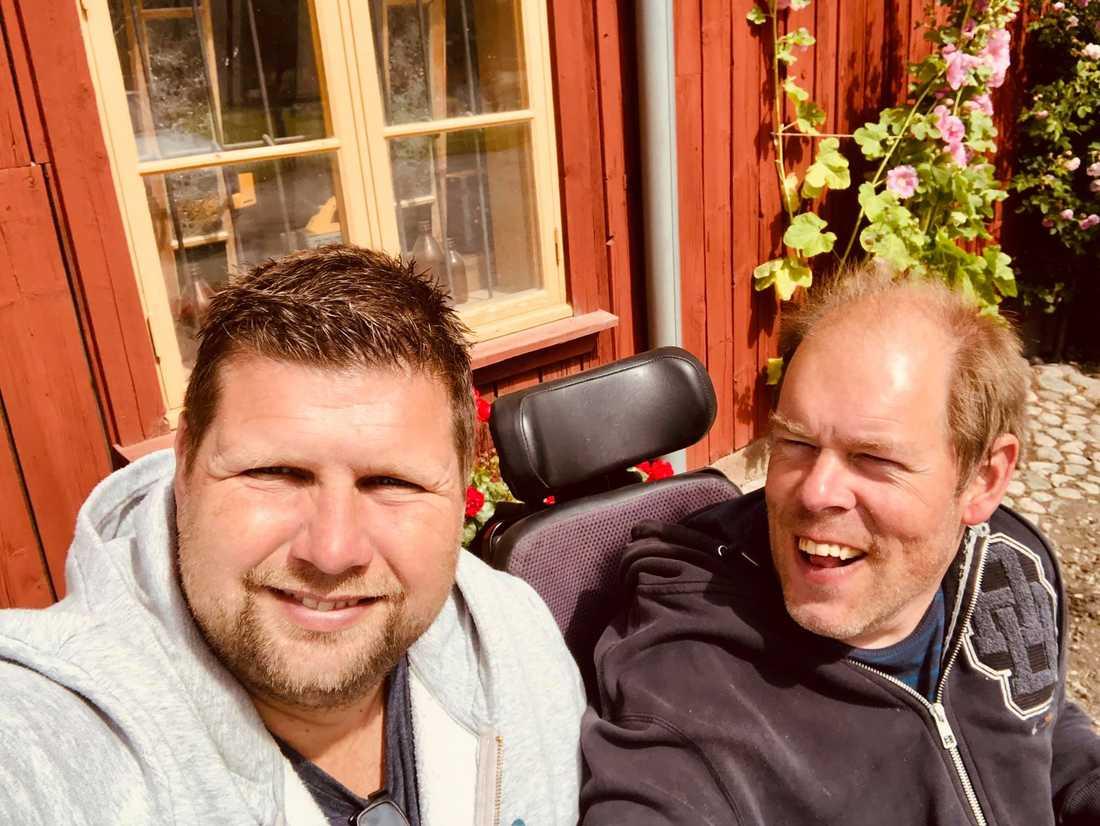 Mathias Sandstedt och Henrik Lundblad har hängt ihop i 24 år.