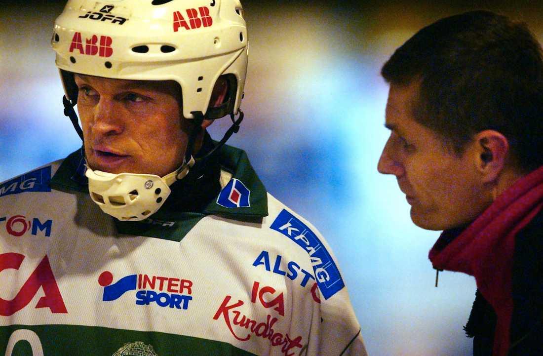 Fosshaug och VSK-tränaren Magnus Berglund 2003.