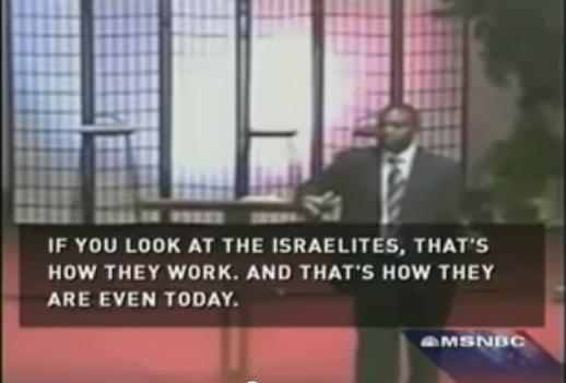 """""""Isrealiterna""""  Pastorn Muthee har kritiserats för att ha uttalat sig antisemitiskt, här vid Sarah Palins kyrka 2005. Minister Svantessons kyrka har bjudit in honom flera gånger. Foto: Amerikanska MSNBC."""